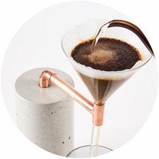 Beton Kaffeebereiter
