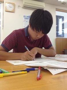 「理数科目に的を絞り勉強しています。」