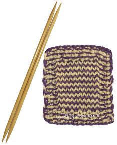 Cómo cambiar de color de lana en cada hilera al tejer en dos agujas o palitos