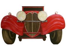 automobile Buggati en trompe l'oeil
