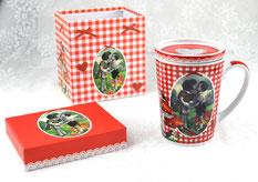 Porzellantasse Young Love mit Deckel im Geschenkkarton
