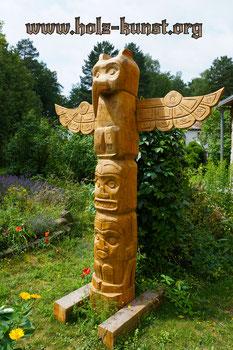 Totempfahl - Holz Kunst Christian Stange
