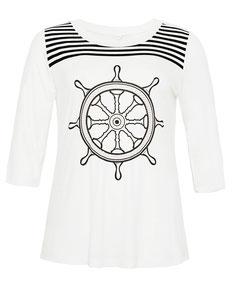 Matrosen T-Shirt in Plus Size