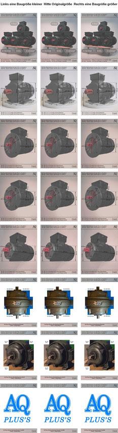 Elektromotoren IEC Norm 90L 100L 112M B3 B5 B14gr B14kl