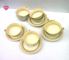 tasses à café en porcelaine de Limoges