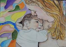 """""""Io ti proteggerò""""_acrilico su carta da disegno_2014"""