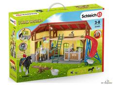 """Bei der Bestellung im Onlineshop der-Wegweiser erhalten Sie das Schleich Paket 42485 """"Pferdestall mit Zubehör""""."""