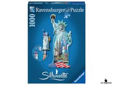 """Bei der Bestellung im Onlineshop der-Wegweiser erhalten Sie das Ravensburger Paket 16151 """"Silhouette Freiheitsstatue"""", 1000tlg."""