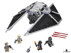 Im Paket Lego 75154 sind 543 Einzelteile mit 4 Minifiguren enthalten.