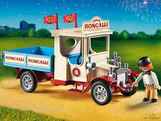 Das Besonderheit im Playmobil Paket 9042 ist der 4-Kant Kurbel LKW Oldtimer Traktor 16mm.