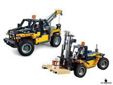 Die Besonderheit im Lego Paket 42079 ist die Möglichkeit aus dem Gabelstapler ein Abschleppwagen zu bauen.