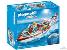 """Bei der Bestellung im Onlineshop der-Wegweiser erhalten Sie das Playmobil Paket 9428 """"Motorboot mit Unterwassermotor""""."""