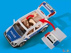 Die Besonderheit im Playmobil Paket 6920 ist der Licht und Soundeffekt, bei einem Einsatz.