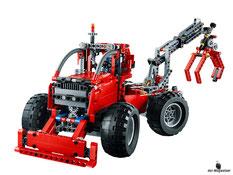 Die Besonderheit im Lego Paket 42029 ist die Möglichkeit aus dem Pick-UP Truck ein Forstschlepper zu bauen.
