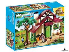 """Bei der Bestellung im Onlineshop der-Wegweiser erhalten Sie das Playmobil Paket 6811 """"Forsthaus""""."""