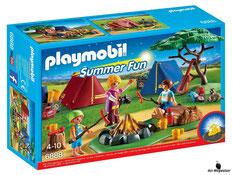 """Bei der Bestellung im Onlineshop der-Wegweiser erhalten Sie das Playmobil Paket 6668 """"Zeltlager mit LED-Lagerfeuer""""."""
