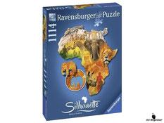 """Bei der Bestellung im Onlineshop der-Wegweiser erhalten Sie das Ravensburger Paket 16157 """"Silhouette Afrika, 1114tlg.""""."""
