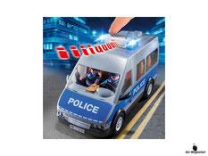 Eine Besonderheit im Playmobil Paket 9336 ist der Licht und Soundeffekten im Polizeibus.