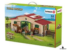 """Bei der Bestellung im Onlineshop der-Wegweiser erhalten Sie das Schleich Paket 42195""""Pferdestall mit Pferden und Zubehör""""."""