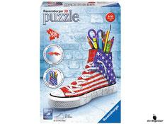 """Bei der Bestellung im Onlineshop der-Wegweiser erhalten Sie das Ravensburger Paket 125494 Sneaker """"American Style""""."""