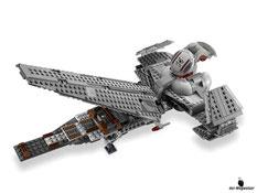 Die Besonderheiten im Lego Paket 75096 sind das einziehbare Fahrwerk, der Schwenkflügel, das aufklappbare Cockpit und zwei federunterstützte Shooter, die von vorne oder hinten geladen werden können.
