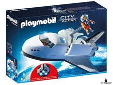 """Bei der Bestellung im Onlineshop der-Wegweiser erhalten Sie das Playmobil Paket 6196 """"Space Shuttle""""."""