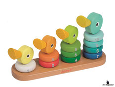 Im Paket Janod ist enthalten ein 14-teiliges Stapel Entenfamilie.