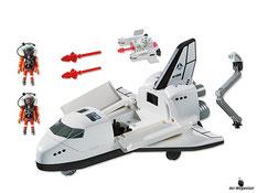 Im Paket Playmobil 6196 ist enthalten ein Space Shuttle mit zwei Astronauten und einer funktionierender Bordkanone inkl. Munition.