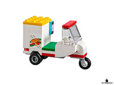 Die  Besonderheit im Lego Paket 41311 ist ein super schneller Roller für die Pizza anlieferung.