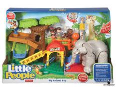 """Bei der Bestellung im Onlineshop der-Wegweiser erhalten Sie das Fisher-Price Paket """"Little People Maxi - Tierwelt Zoo""""."""