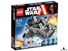 """Bei der Bestellung im Onlineshop der-Wegweiser erhalten Sie das Lego Paket 75100 """"Star Wars First Order Snowspeeder""""."""