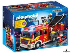 """Bei der Bestellung im Onlineshop der-Wegweiser erhalten Sie das Playmobil Paket 5363 """"Löschgruppenfahrzeug mit Licht und Sound""""."""
