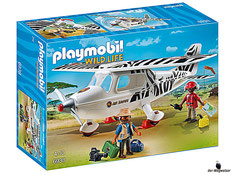 """Bei der Bestellung im Onlineshop der-Wegweiser erhalten Sie das Playmobil Paket 6938 """"Wild Life Safari-Flugzeug""""."""
