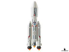Die Besonderheiten im Playmobil Paket 6195 sind die Geräusch- und Lichteffekte beim Starten der Rakete mit lautem Getöse von den Feuererden Triebwerken und blinkende Signale.