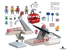 Im Paket Playmobil 5426 ist eine funktionierende Seilbahn mit einer grosser Gondel enthalten.