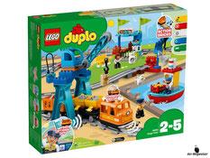 """Bei der Bestellung im Onlineshop der-Wegweiser erhalten Sie das Lego Duplo Paket 10875 """"Güterzug""""."""
