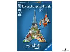 """Bei der Bestellung im Onlineshop der-Wegweiser erhalten Sie das Ravensburger Paket 16152 """"Silhouette Eiffelturm"""", 960tlg."""
