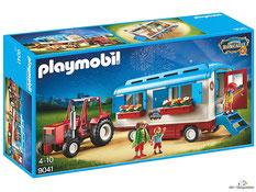"""Bei der Bestellung im Onlineshop der-Wegweiser erhalten Sie das Playmobil Paket 9041 Zirkus Roncalli """"Traktor mit Wohnwagen""""."""