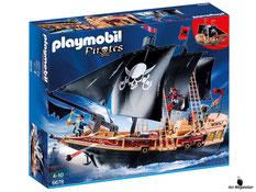 """Bei der Bestellung im Onlineshop der-Wegweiser erhalten Sie das Playmobil Paket 6678 """"Piraten-Kampfschiff""""."""