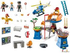 Im Paket Playmobil 5390 ist enthalten eine Römische Galeere mit drei Figuren und vielem Zubehör.