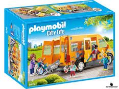 """Bei der Bestellung im Onlineshop der-Wegweiser erhalten Sie das Playmobil Paket 9419 """"Schulbus""""."""