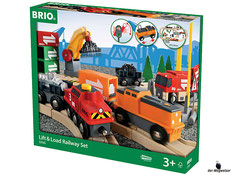 Bei der Bestellung im Onlineshop der-Wegweiser erhalten Sie ein grosses Güterbahnhofset 75-teilig vom Hersteller Brio.