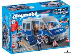 """Bei der Bestellung im Onlineshop der-Wegweiser erhalten Sie das Playmobil Paket 9336 """"Polizeibus mit Strassensperre""""."""
