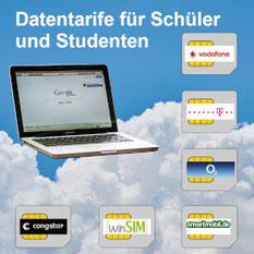 Datentarife für Laptop, Notebook und Tablet - Mobiles DSL für Schüler, Studenten und Auszubildende