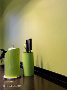 Edelputz in kräftigen Farben | Küche