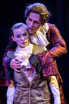 Angela Ahlheim als Bellino in Casanova kocht. Theater zum Fürchten 2020