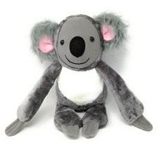 Kuscheltier Koala Bär für Spieluhr, personalisiert mit Namen, 45cm groß, aus grauen Plüsch