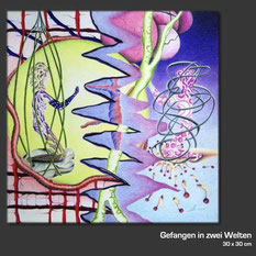 Buntstiftzeichnung von Silke Noltenhans