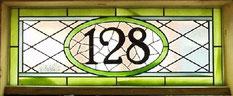 数字のステンドグラス
