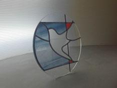 スタンドタイプのステンドグラス・キット(グラスティーク)